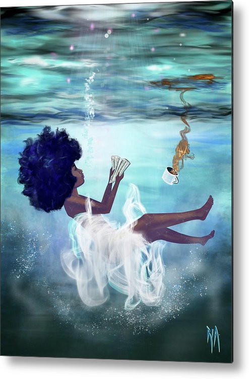 Bible Metal Print featuring the painting I aint drowning by Artist RiA
