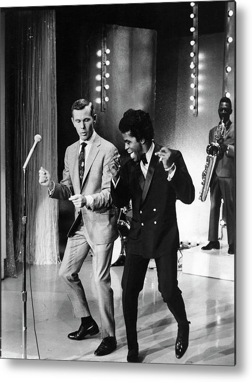 Singer Metal Print featuring the photograph Johnny Carsonjames Brown by Arthur Schatz