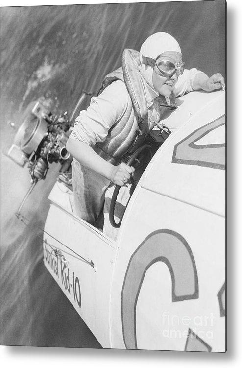 People Metal Print featuring the photograph Loretta Turnbull Racing by Bettmann