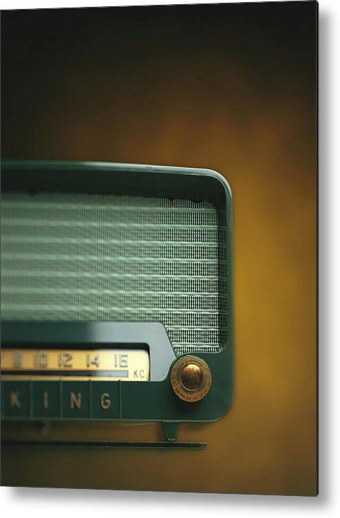 Analog Metal Print featuring the photograph Old-fashioned Radio With Dial Tuner by Stockbyte