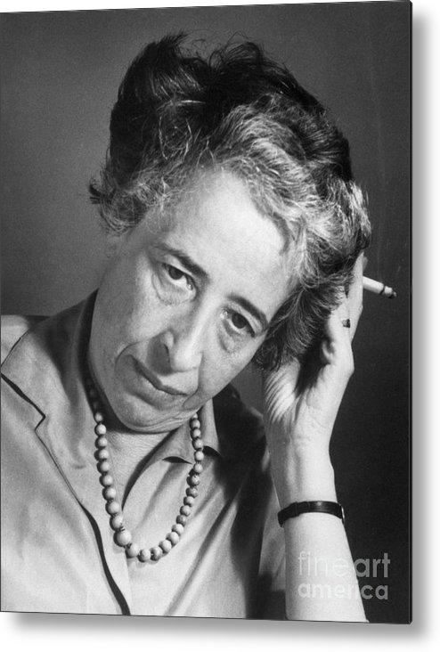 Hannah Arendt Metal Print featuring the photograph Political Theorist Hannah Arendt by Bettmann