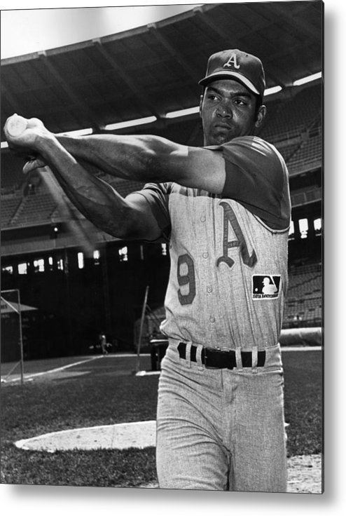 People Metal Print featuring the photograph Reggie Jackson by Hulton Archive