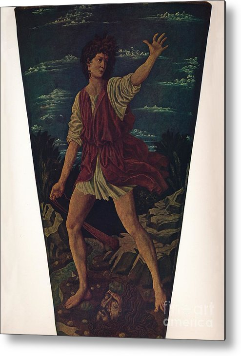 Art Metal Print featuring the drawing The Youthful David by Print Collector