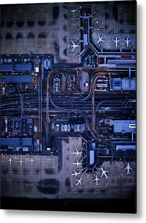 Outdoors Metal Print featuring the photograph Tokyo International Airporthaneda by Michael H