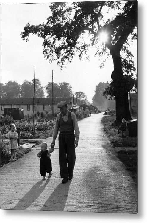 Toddler Metal Print featuring the photograph Walking In Sunshine by Bert Hardy