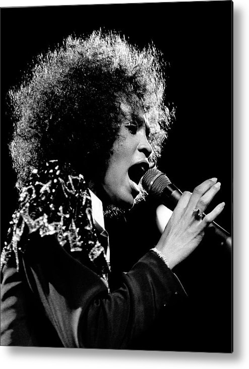 Singer Metal Print featuring the photograph Whitney Houston Live In Concert by Raymond Boyd
