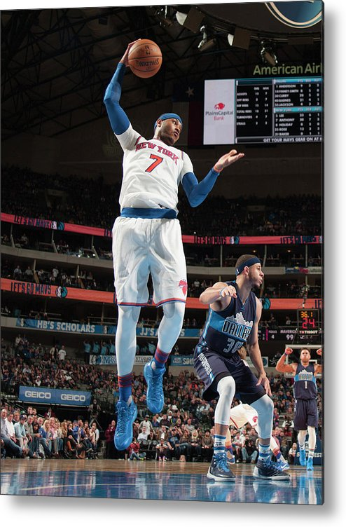 Nba Pro Basketball Metal Print featuring the photograph Carmelo Anthony by Glenn James