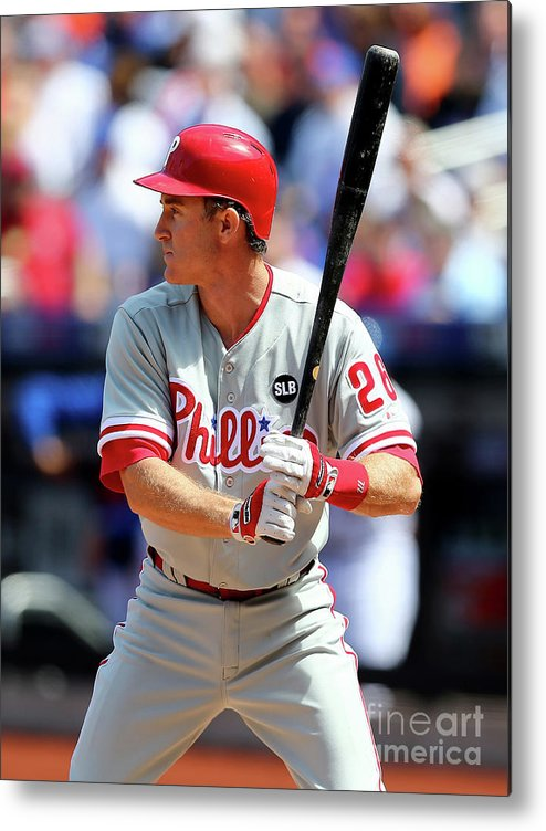 Three Quarter Length Metal Print featuring the photograph Chase Utley by Elsa