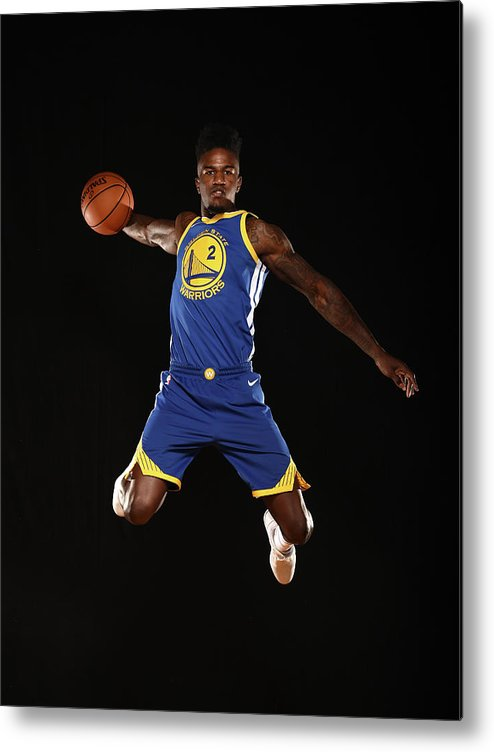 Nba Pro Basketball Metal Print featuring the photograph Jordan Bell by Brian Babineau