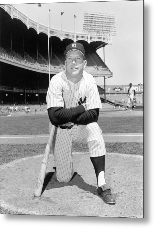 People Metal Print featuring the photograph Mickey Mantle by Louis Requena