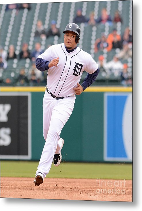 People Metal Print featuring the photograph Miguel Cabrera by Mark Cunningham