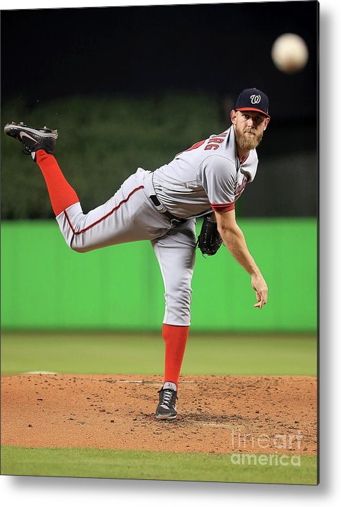 People Metal Print featuring the photograph Stephen Strasburg by Mike Ehrmann
