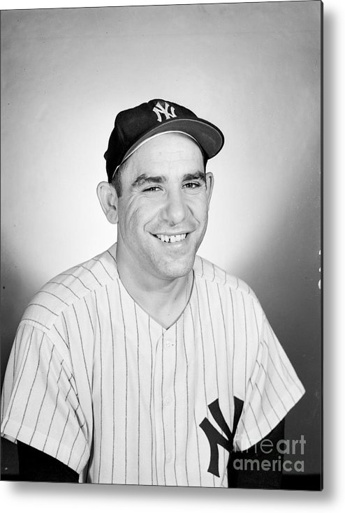 People Metal Print featuring the photograph Yogi Berra by Olen Collection