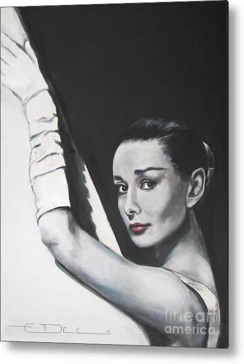 Audrey Hepburn Metal Print featuring the painting Audrey Hepburn by Eric Dee
