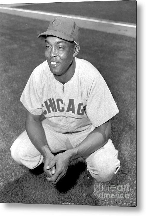 1950-1959 Metal Print featuring the photograph Monte Irvin by Kidwiler Collection