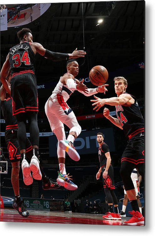 Nba Pro Basketball Metal Print featuring the photograph Russell Westbrook by Stephen Gosling