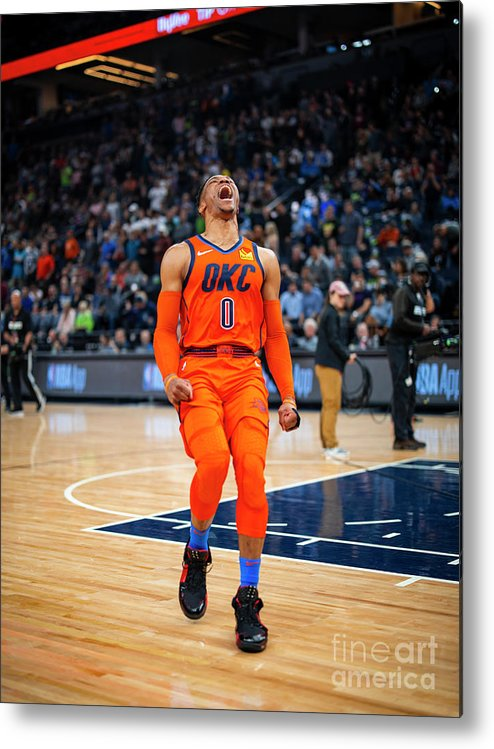 Nba Pro Basketball Metal Print featuring the photograph Russell Westbrook by Zach Beeker