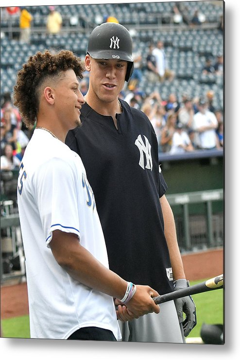 American League Baseball Metal Print featuring the photograph Aaron Judge by Icon Sportswire