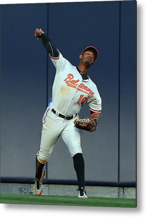 American League Baseball Metal Print featuring the photograph Adam Jones by Elsa