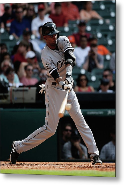American League Baseball Metal Print featuring the photograph Alexei Ramirez by Scott Halleran