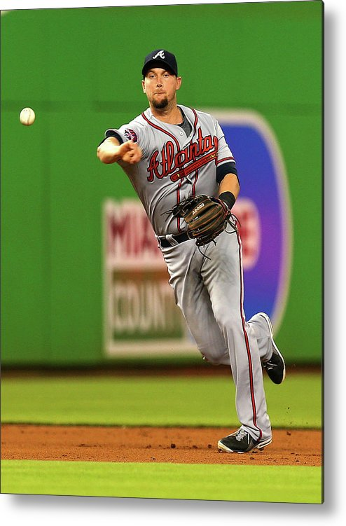 American League Baseball Metal Print featuring the photograph Andrelton Simmons by Mike Ehrmann