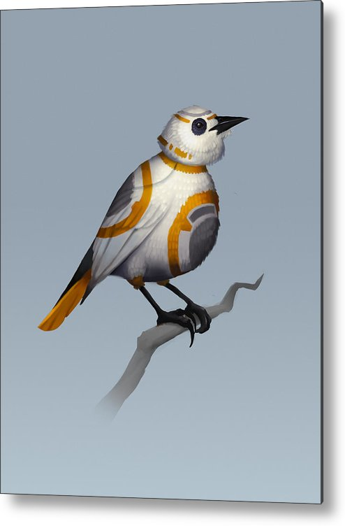 Birds Metal Print featuring the digital art BB Bird by Michael Myers