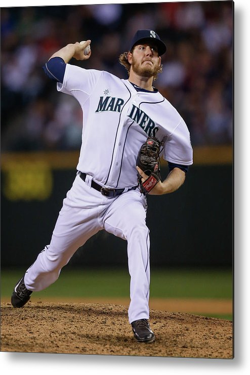 American League Baseball Metal Print featuring the photograph Brandon Maurer by Otto Greule Jr