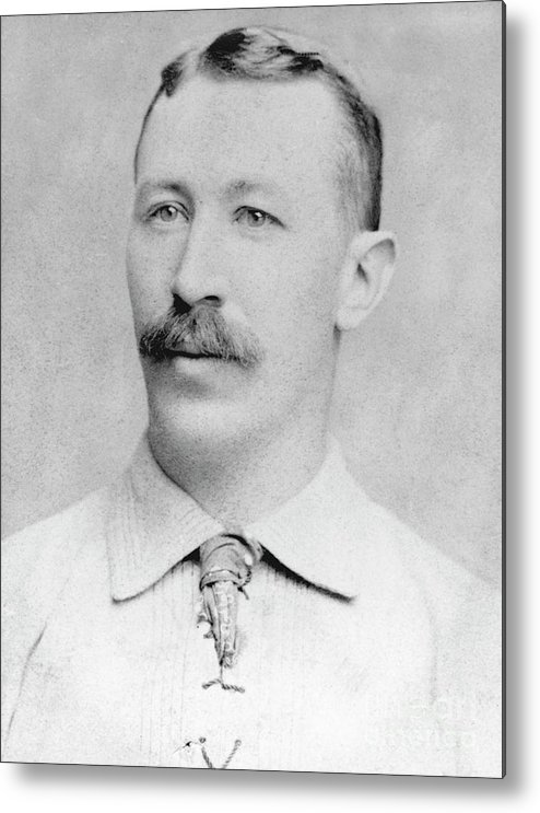 1880-1889 Metal Print featuring the photograph Buck Ewing by National Baseball Hall Of Fame Library