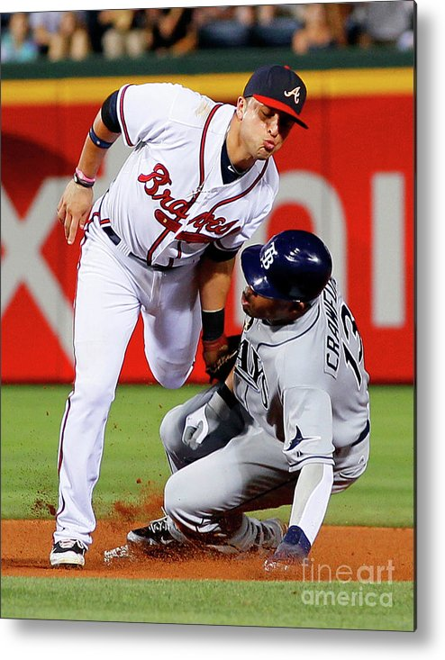 Atlanta Metal Print featuring the photograph Carl Crawford and Martin Prado by Kevin C. Cox