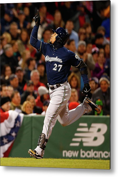American League Baseball Metal Print featuring the photograph Carlos Gomez by Jared Wickerham