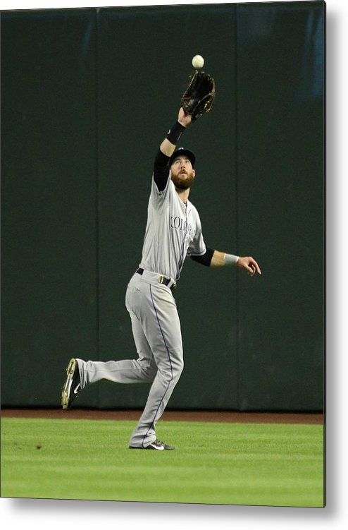 American League Baseball Metal Print featuring the photograph Charlie Blackmon by Norm Hall