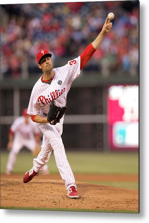 People Metal Print featuring the photograph Cole Hamels by Mitchell Leff