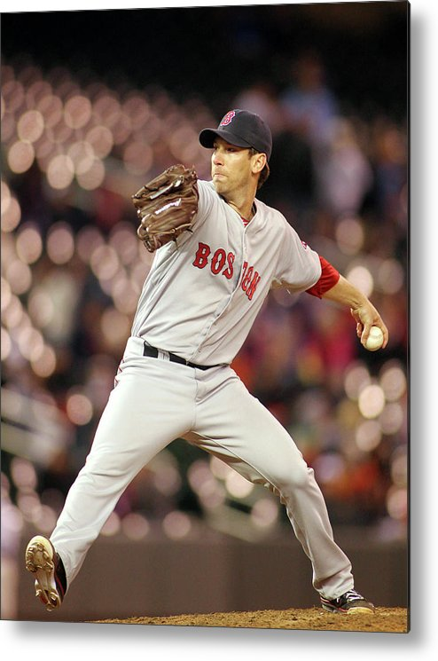 American League Baseball Metal Print featuring the photograph Craig Breslow by Andy King