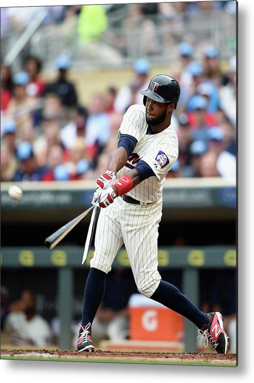 Second Inning Metal Print featuring the photograph Danny Santana by Hannah Foslien