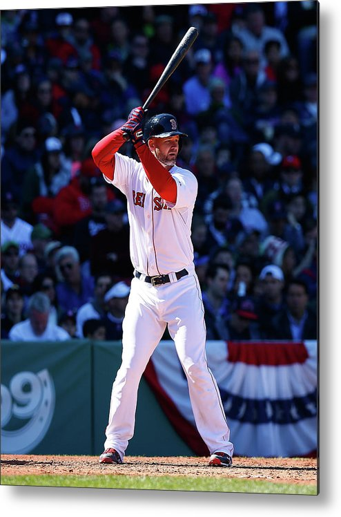 American League Baseball Metal Print featuring the photograph David Ross by Jared Wickerham
