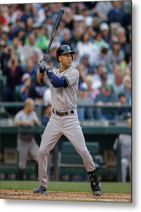 People Metal Print featuring the photograph Derek Jeter by Otto Greule Jr