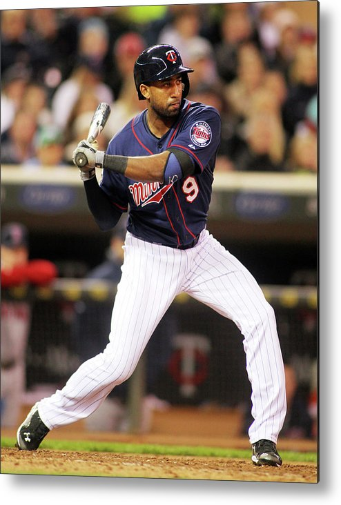 American League Baseball Metal Print featuring the photograph Eduardo Nunez by Andy King
