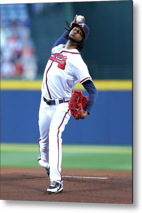 Atlanta Metal Print featuring the photograph Ervin Santana by Kevin C. Cox