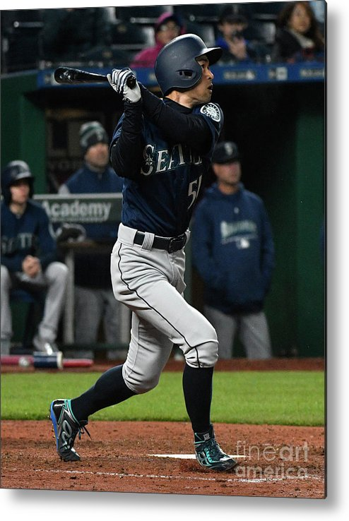 People Metal Print featuring the photograph Ichiro Suzuki by Ed Zurga