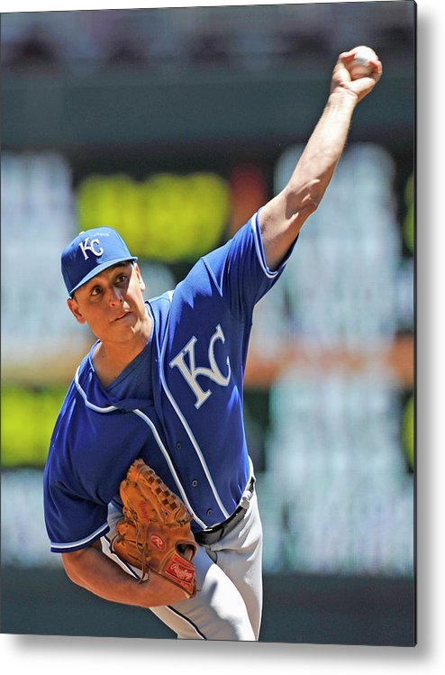 Second Inning Metal Print featuring the photograph Jason Vargas by Hannah Foslien
