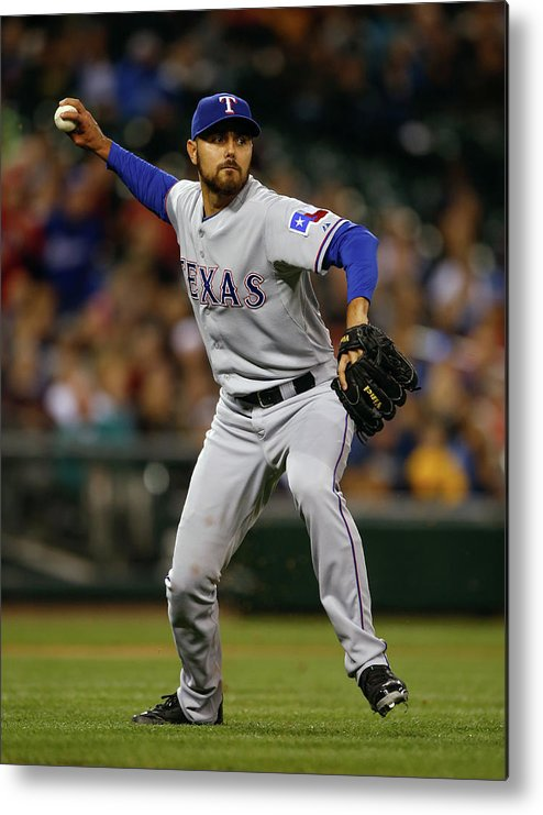 American League Baseball Metal Print featuring the photograph Joakim Soria by Otto Greule Jr