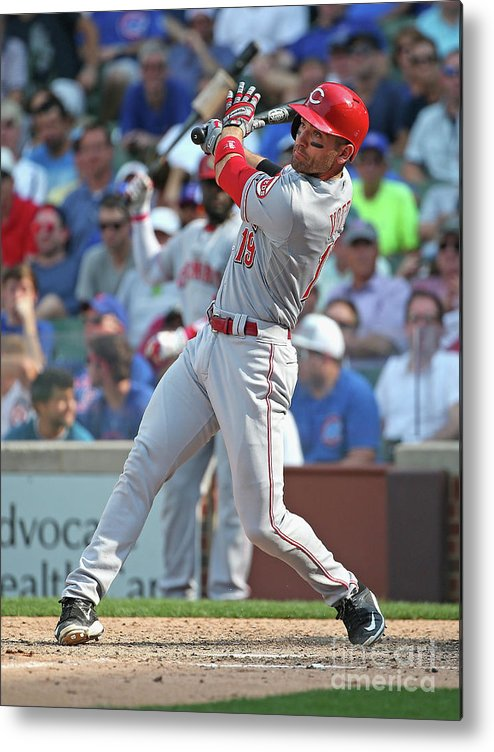 People Metal Print featuring the photograph Joey Votto by Jonathan Daniel