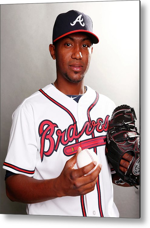 Media Day Metal Print featuring the photograph Julio Teheran by Elsa