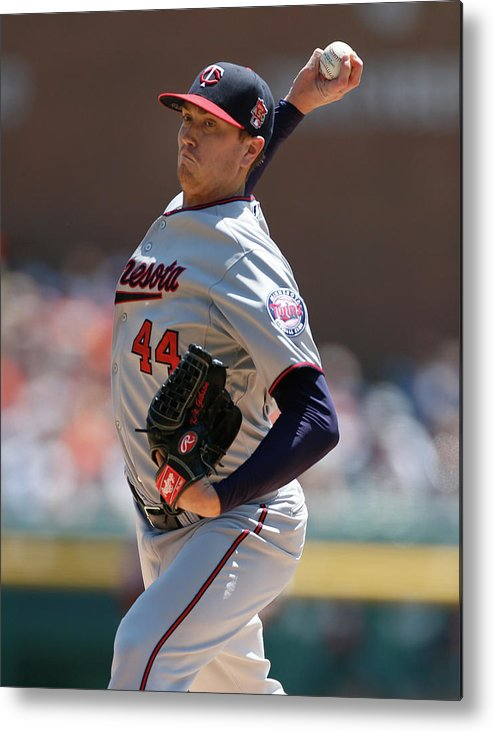 American League Baseball Metal Print featuring the photograph Kyle Gibson by Gregory Shamus