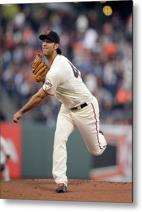 San Francisco Metal Print featuring the photograph Madison Bumgarner by Ezra Shaw