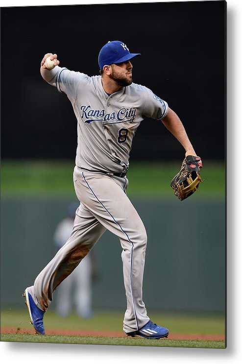 People Metal Print featuring the photograph Mike Moustakas and Trevor Plouffe by Hannah Foslien