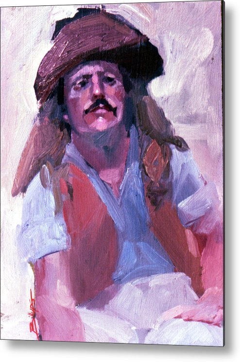Mountain Men Metal Print featuring the painting Miner by Betty Jean Billups
