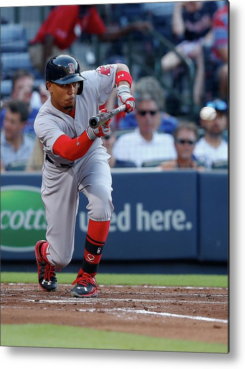 Atlanta Metal Print featuring the photograph Mookie Betts by Mike Zarrilli