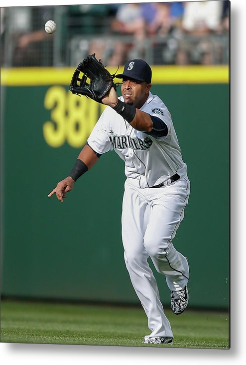 People Metal Print featuring the photograph Nelson Cruz and Mark Canha by Otto Greule Jr