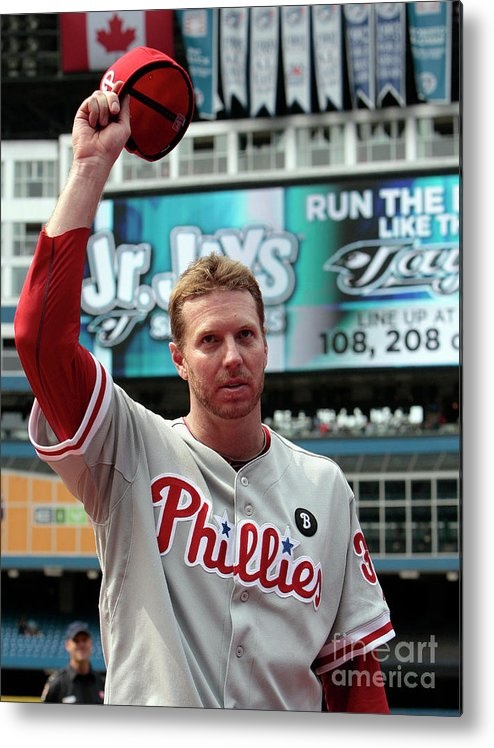 People Metal Print featuring the photograph Roy Halladay by Abelimages